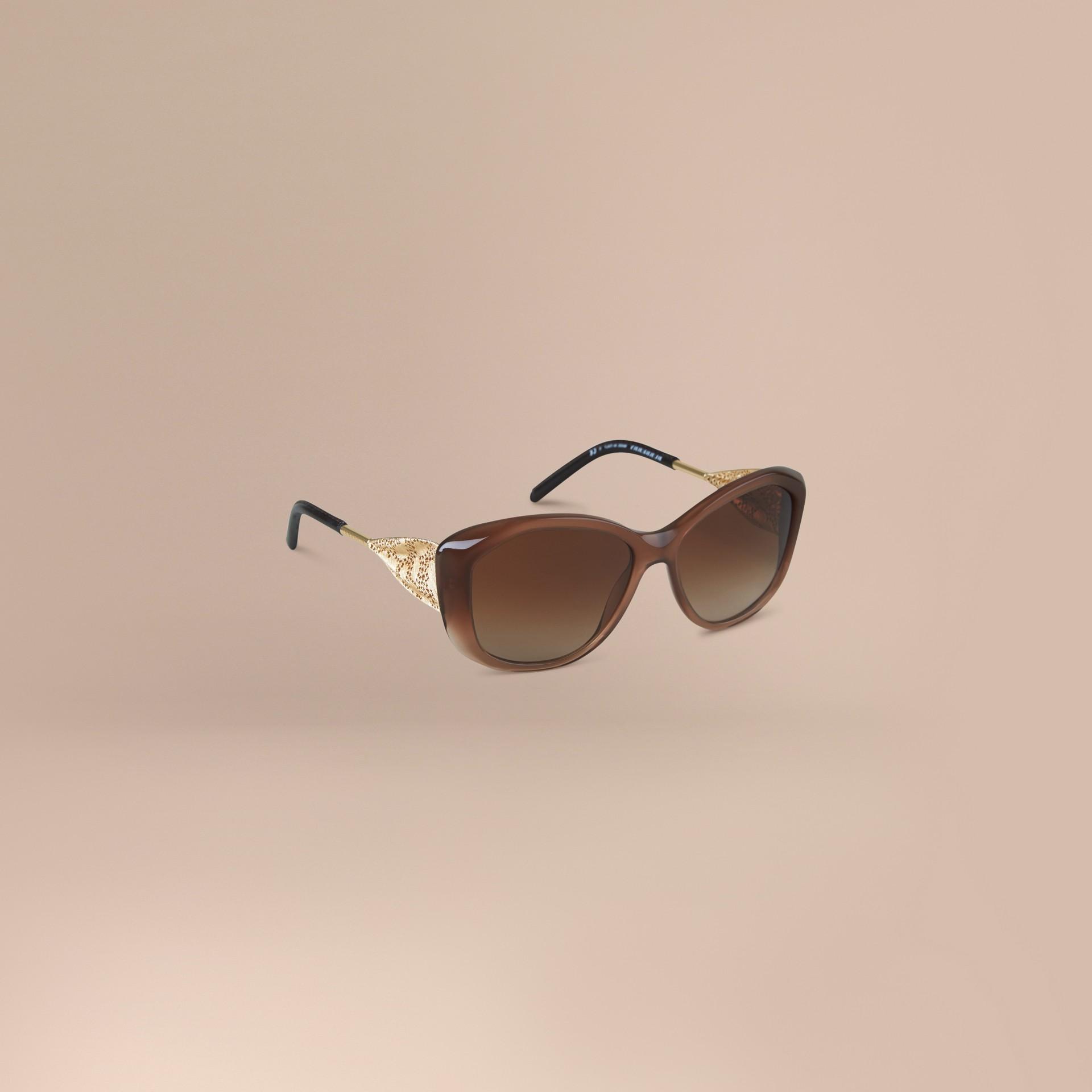 Ambra scuro Occhiali da sole con montatura quadrata collezione Gabardine Ambra Scuro - immagine della galleria 1