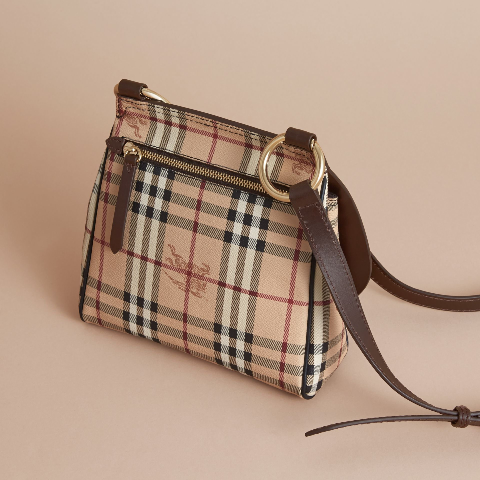 The Bridle Crossbody Bag in Haymarket Check - Women | Burberry - gallery image 4