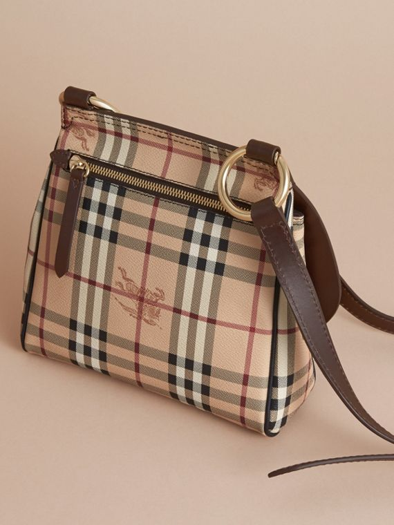 The Bridle Crossbody Bag in Haymarket Check - Women | Burberry - cell image 3