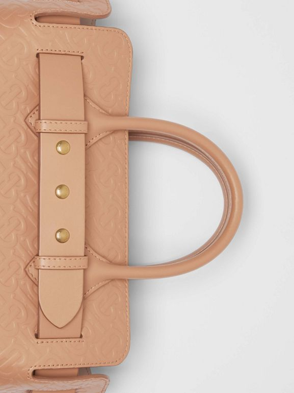 The Small Monogram Leather Triple Stud Belt Bag in Light Camel - Women | Burberry United Kingdom - cell image 1