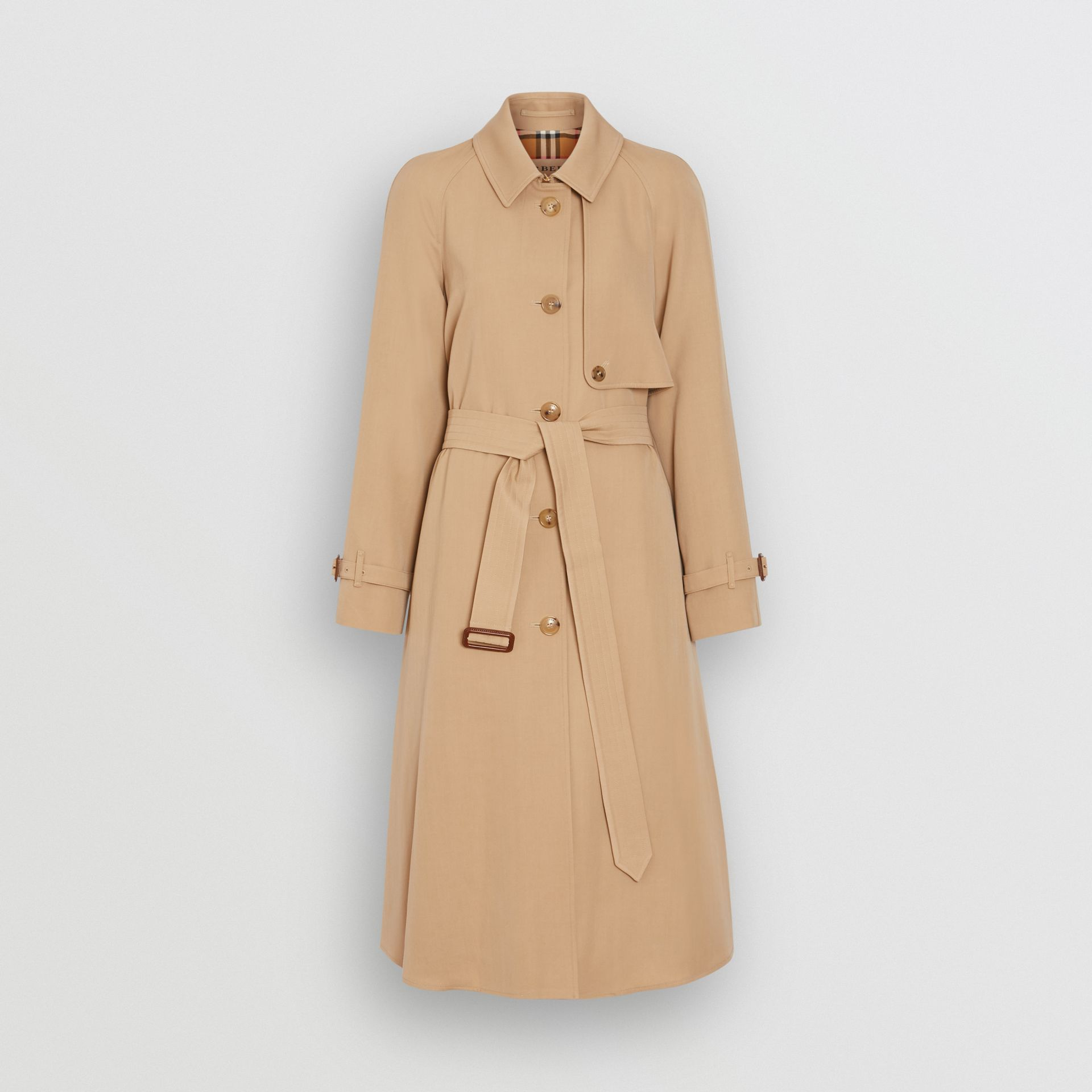 Wool Gabardine Trench Coat in Honey - Women | Burberry - gallery image 3