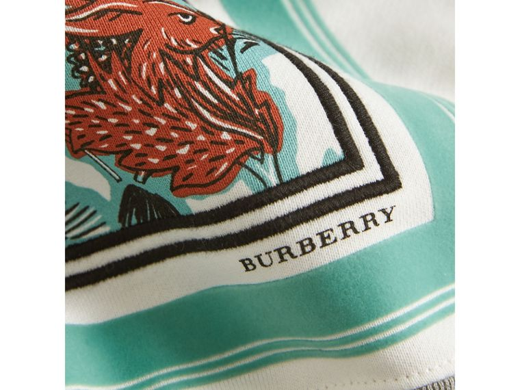 Beasts Print Cotton Sweatshirt in Grey Melange - Girl | Burberry - cell image 1
