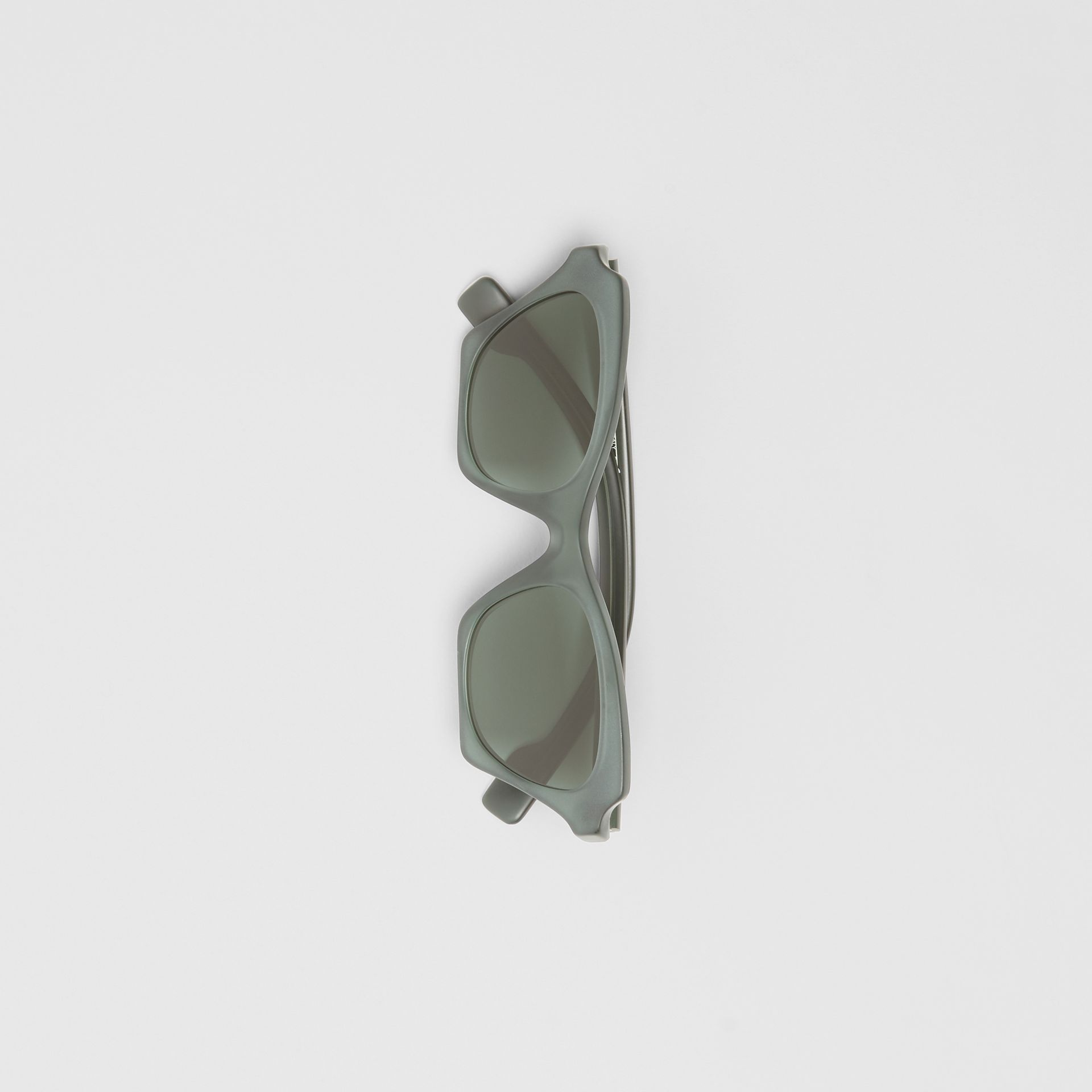 Butterfly Frame Sunglasses in Green - Women | Burberry United States - gallery image 3