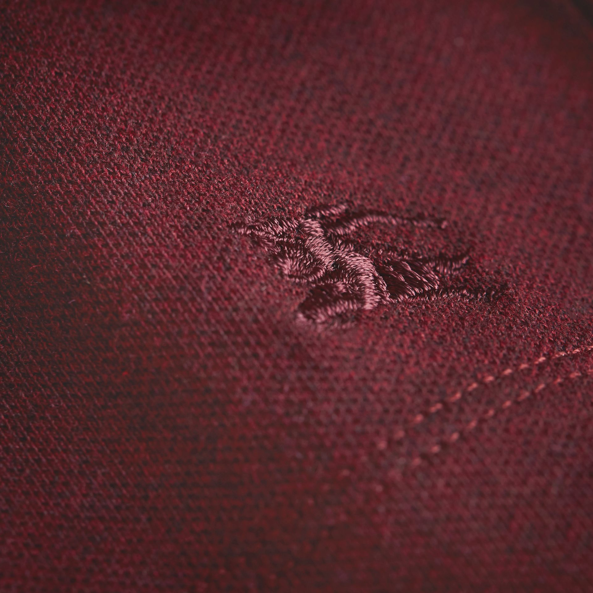 Peter Pan Collar Cotton Piqué Polo Shirt in Burgundy Melange - Girl | Burberry - gallery image 2