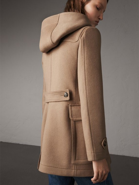 Fitted Wool Duffle Coat in New Camel - Women | Burberry Australia - cell image 2