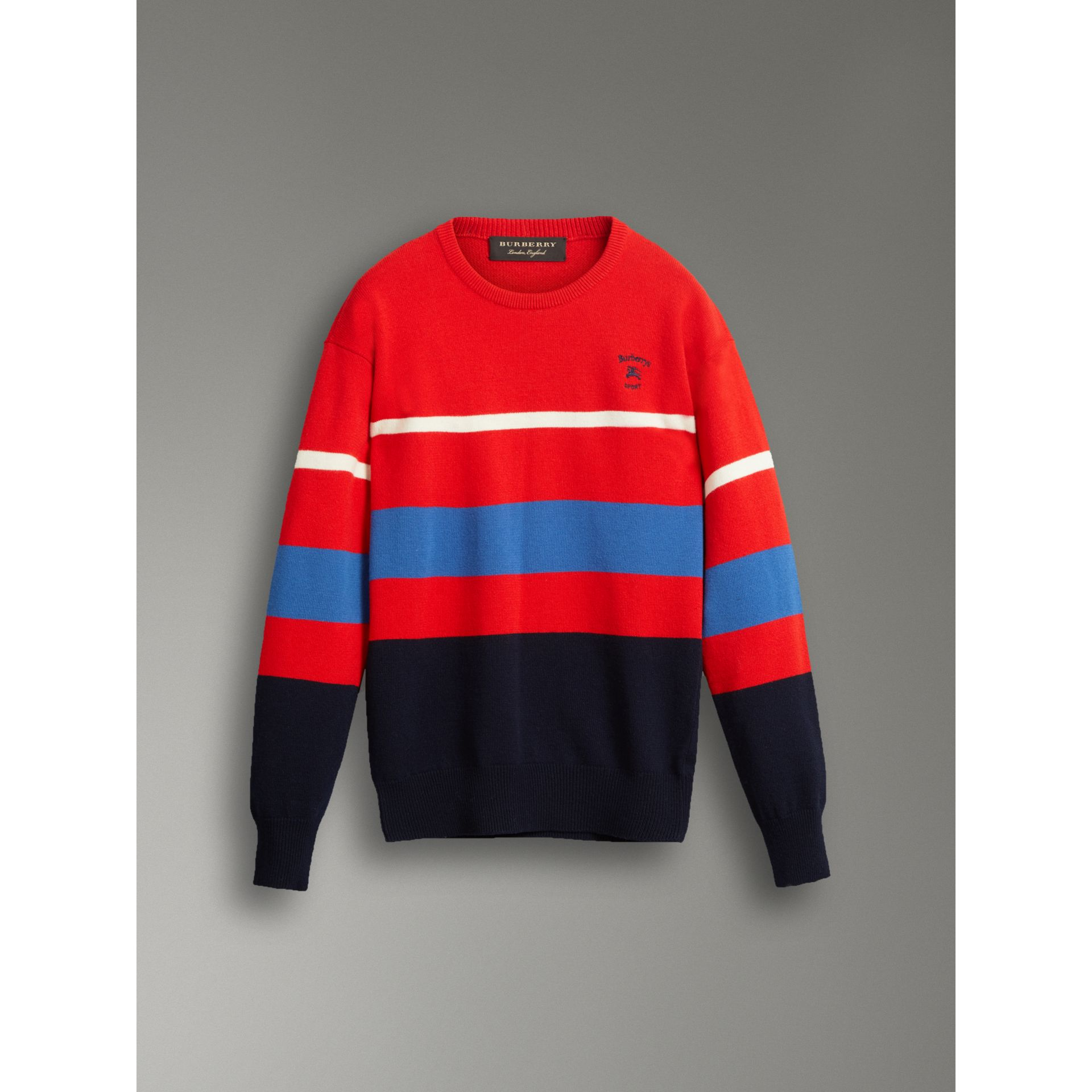 Reissued Lambswool Sweater in Red - Men | Burberry - gallery image 3