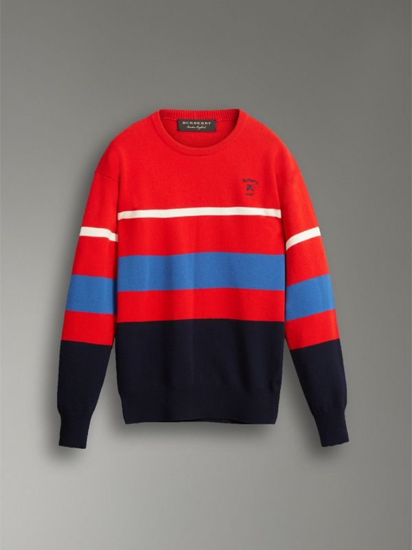 Reissued Lambswool Sweater in Red - Men | Burberry Singapore - cell image 3