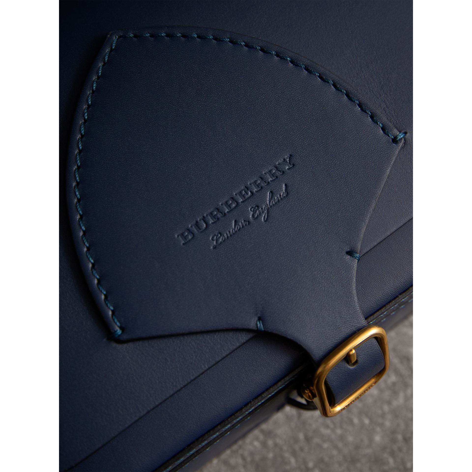 The Square Satchel in Leather in Indigo - Women | Burberry United Kingdom - gallery image 2