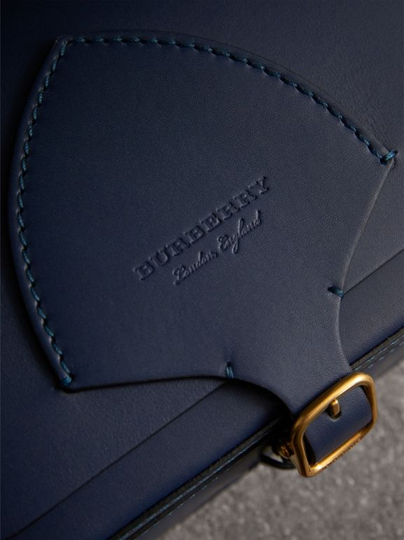 The Square Satchel in Leather in Indigo - Women | Burberry - cell image 1