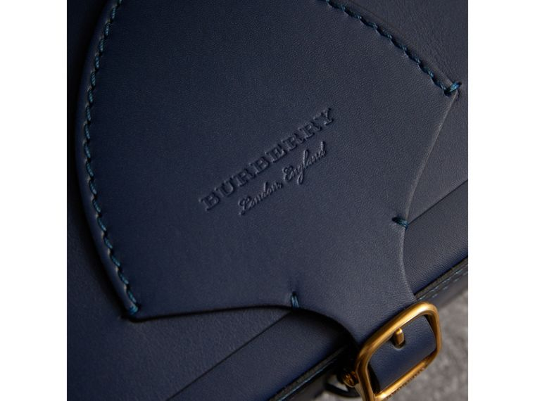 The Square Satchel in Leather in Indigo - Women | Burberry Singapore - cell image 1