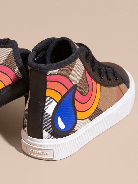 Printed House Check High-top Trainers - cell image 3