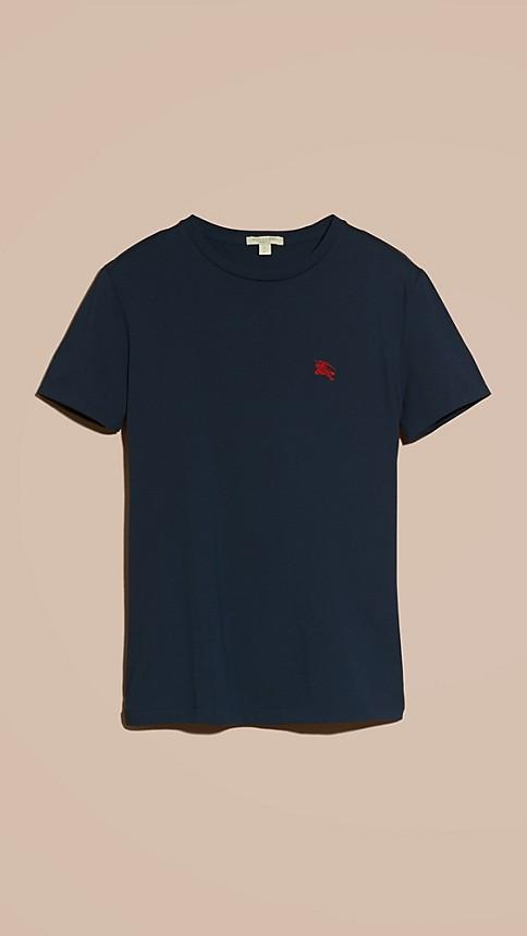 Navy Liquid-soft Cotton T-Shirt Navy - Image 6