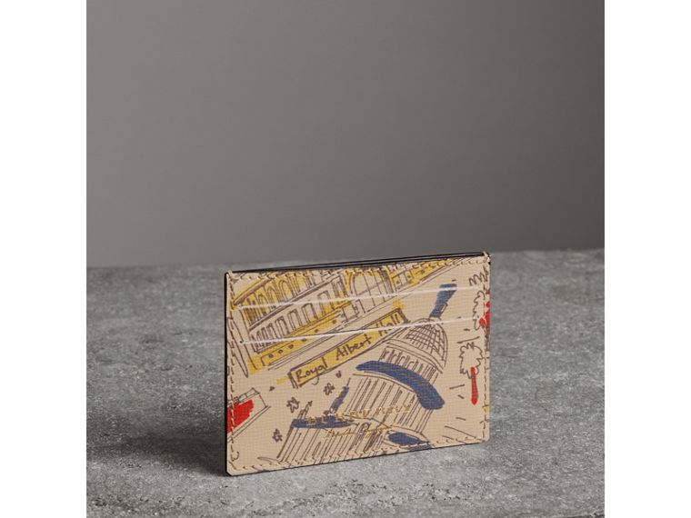 London Icons Print Leather Card Case in Multicolour - Men | Burberry - cell image 4