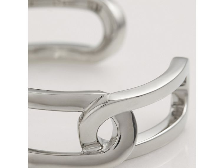Palladium-plated Link Cuff in Palladio - Women | Burberry Australia - cell image 1