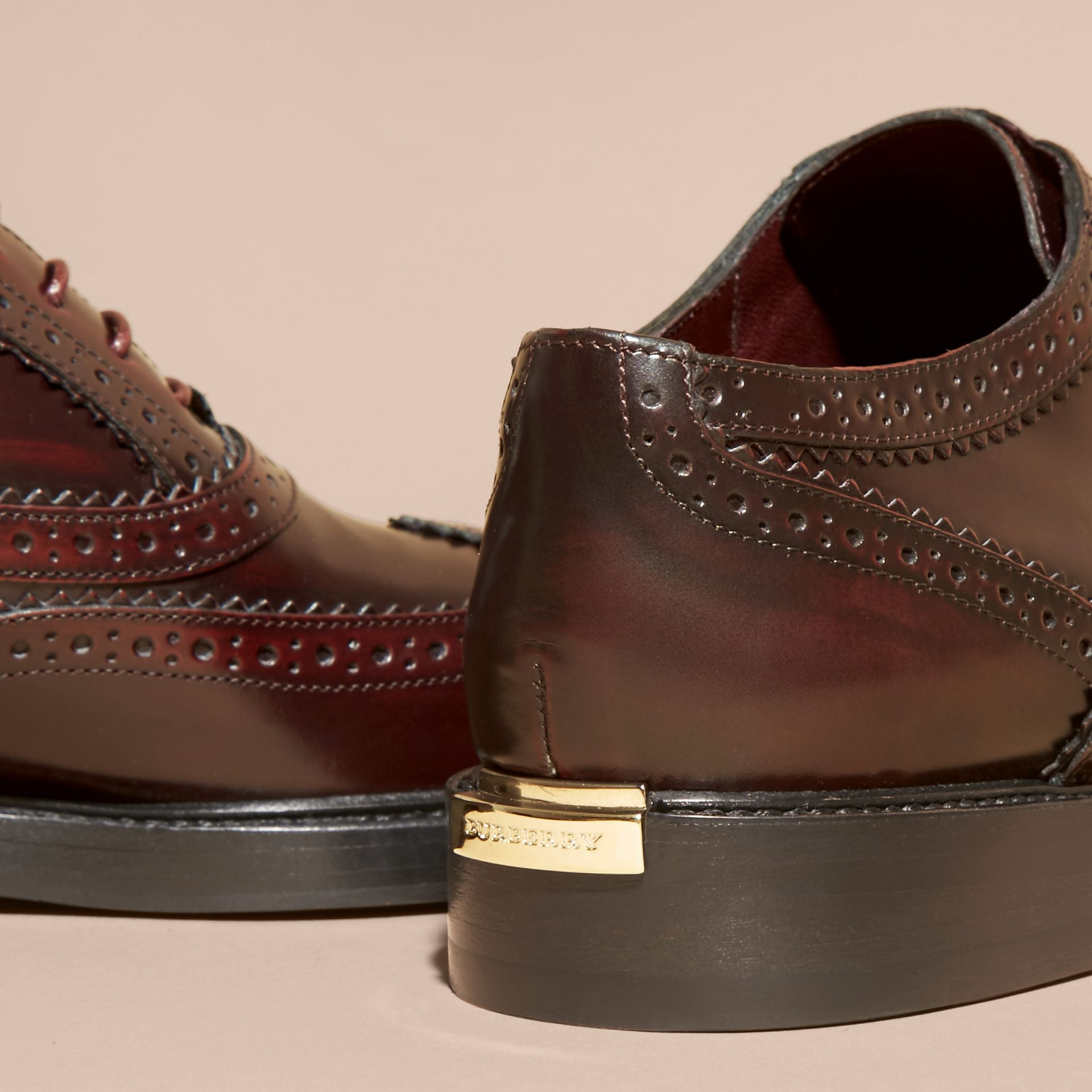 Bordeaux Leather Wingtip Brogues - gallery image 4