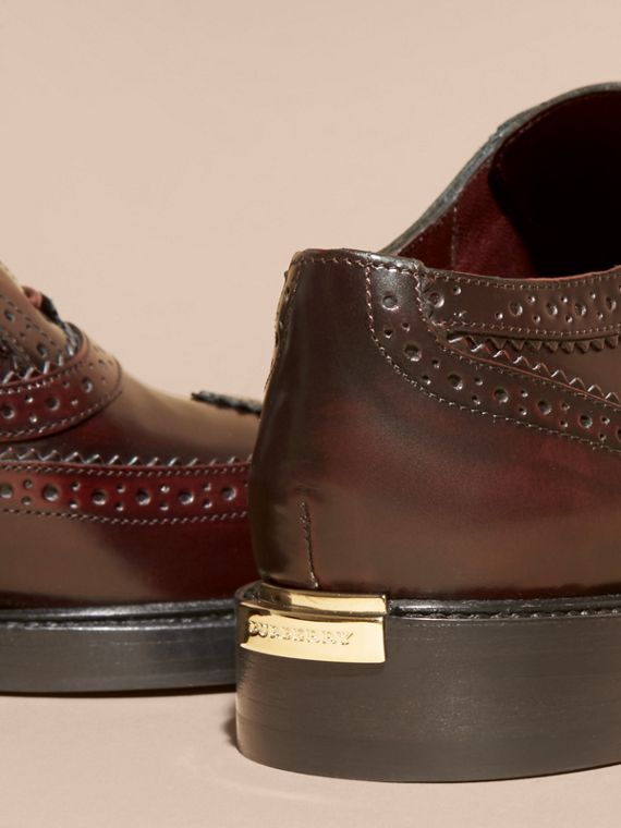 Bordeaux Leather Wingtip Brogues - cell image 3