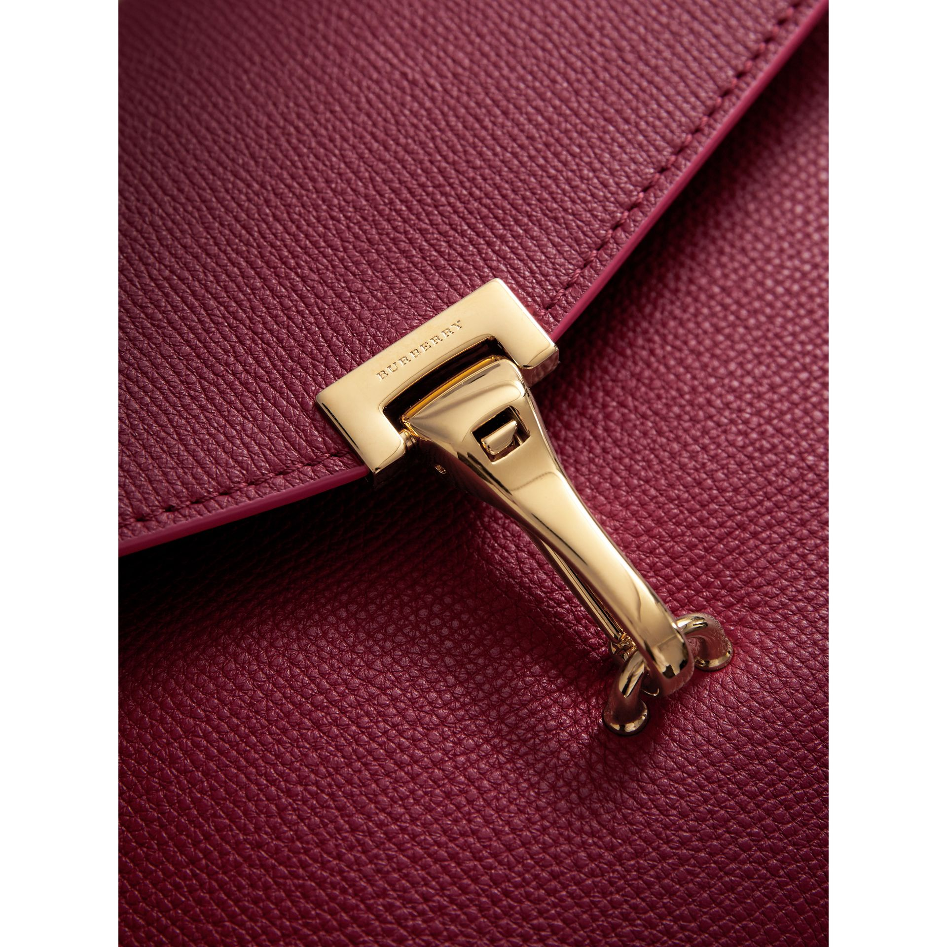 Small Grainy Leather Crossbody Bag in Berry Pink - Women | Burberry Australia - gallery image 1