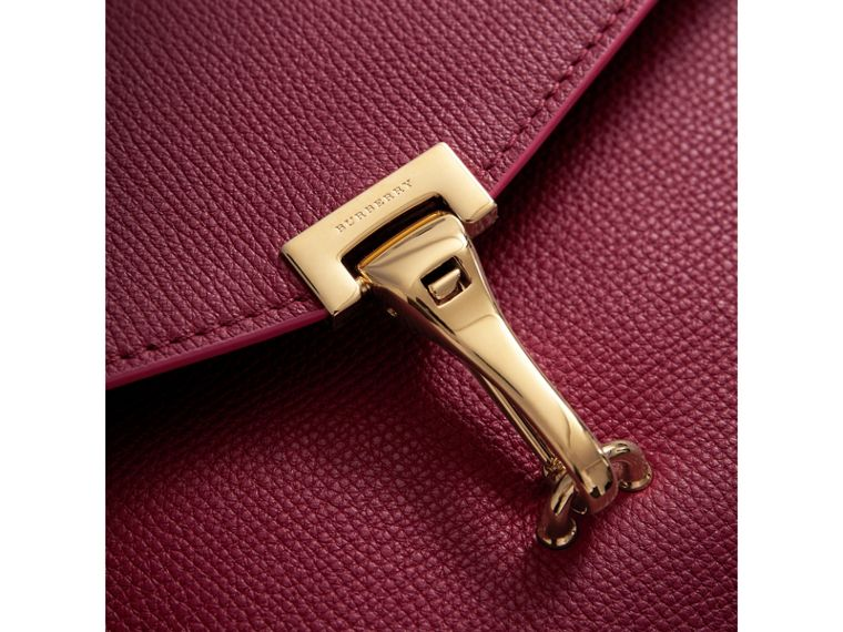 Small Grainy Leather Crossbody Bag in Berry Pink - Women | Burberry Australia - cell image 1
