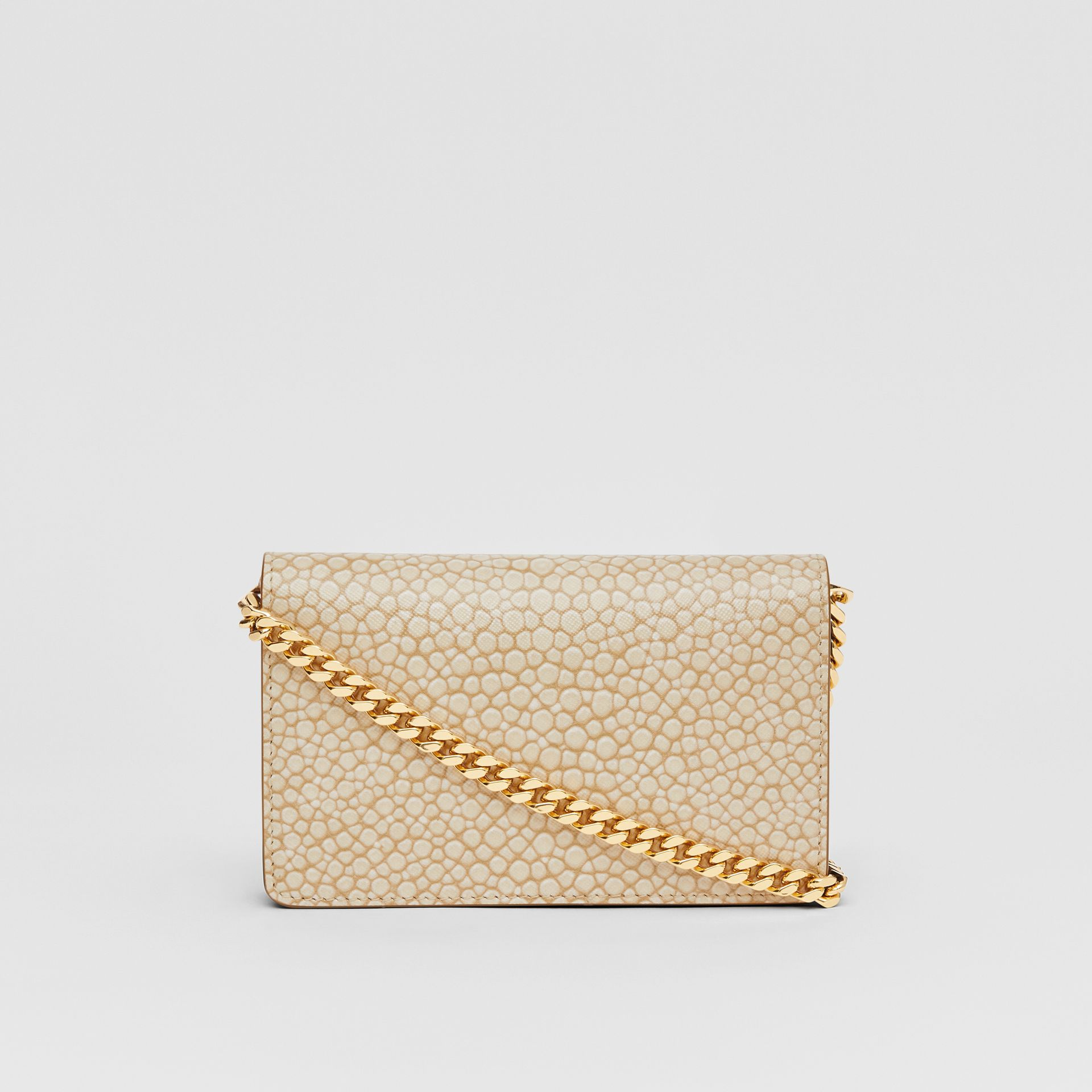 Mini Fish-scale Print Leather Shoulder Bag in Light Sand - Women | Burberry - gallery image 7