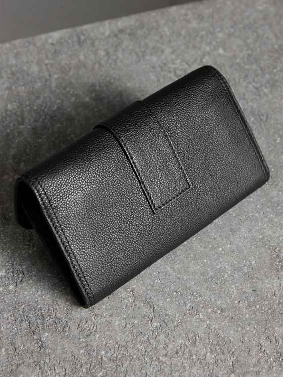 Textured Leather Continental Wallet in Black - Women | Burberry United Kingdom - cell image 2