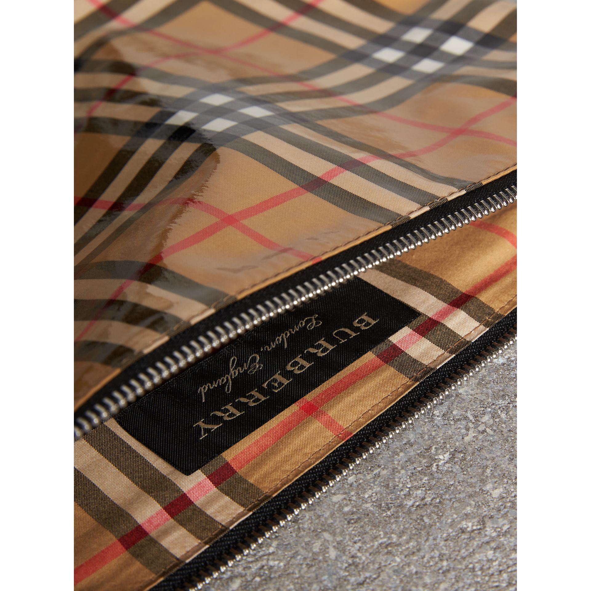 Medium Coated Vintage Check Pouch in Pale Yellow | Burberry - gallery image 7