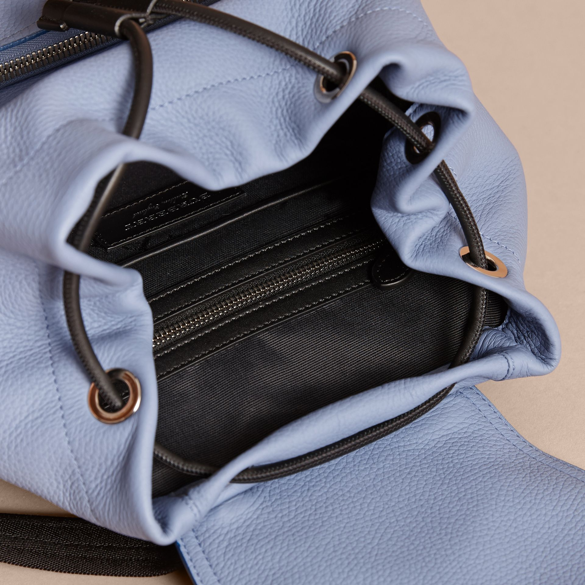 The Medium Rucksack in Deerskin with Resin Chain in Slate Blue - Women | Burberry United Kingdom - gallery image 5