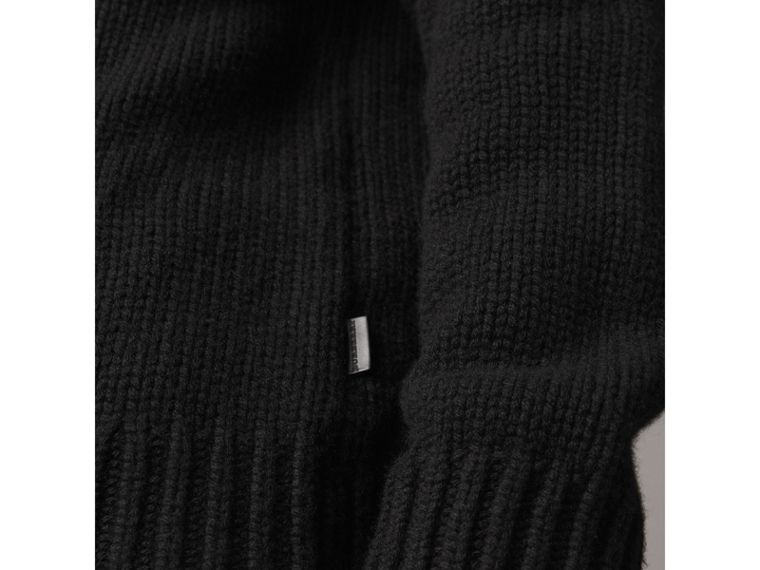 Cashmere Fisherman Sweater in Black - Men | Burberry - cell image 1