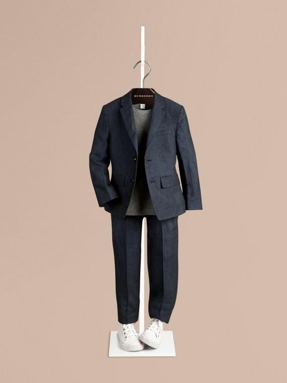 亞麻男士西裝禮服外套