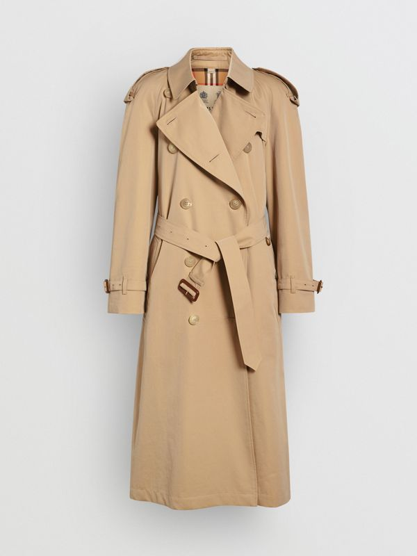 The Long Westminster Heritage Trench Coat in Honey - Women | Burberry - cell image 3