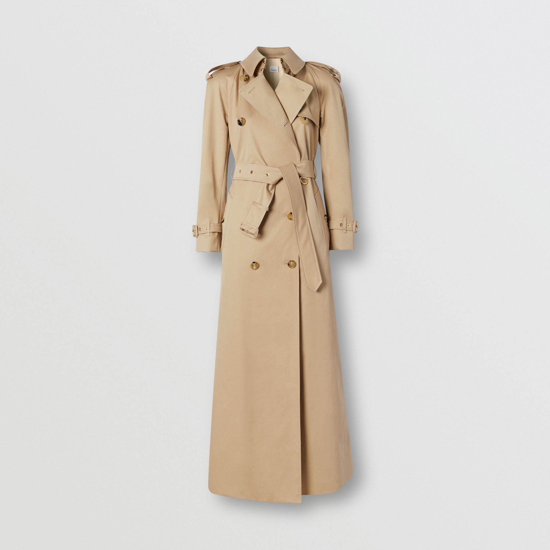 Custom Fit Cotton Gabardine Trench Coat in Soft Fawn - Women | Burberry - gallery image 0