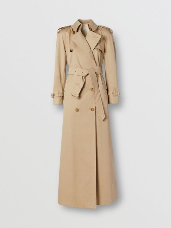 Custom Fit Cotton Gabardine Trench Coat in Soft Fawn
