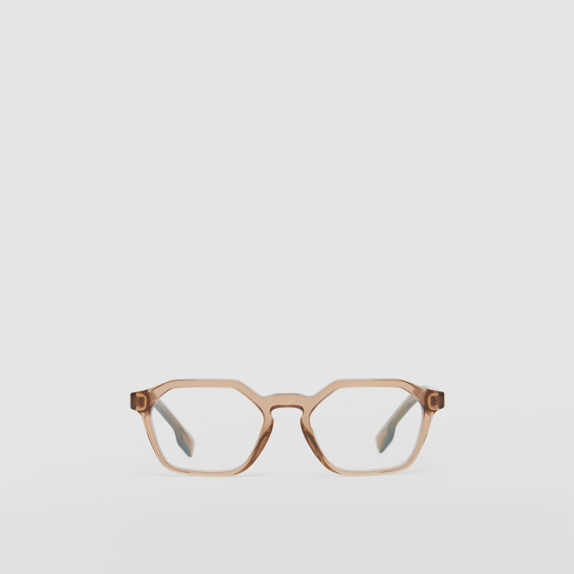 Geometric Optical Frames in Brown - Women | Burberry Australia - gallery image 0
