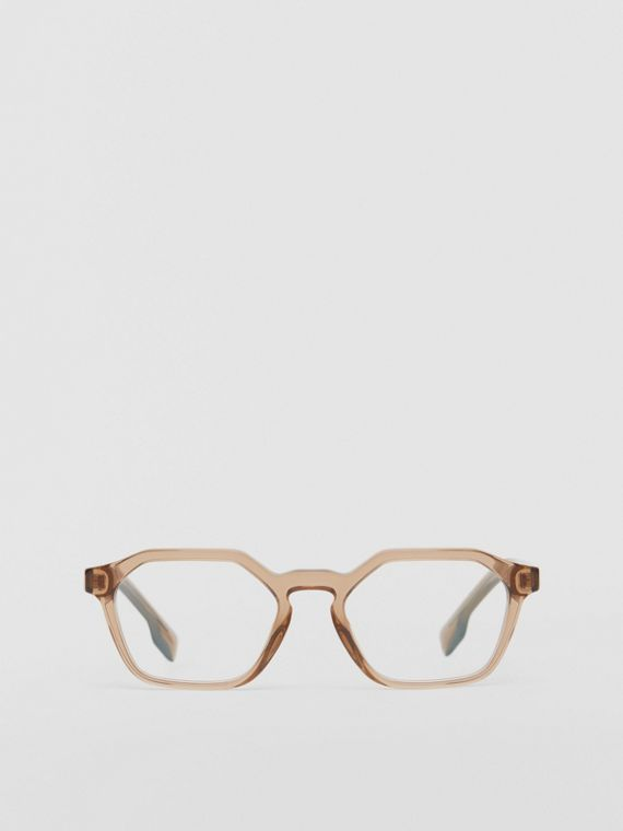 Geometric Optical Frames in Brown