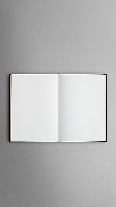 Black Medium Sartorial Leather Notebook - Image 4