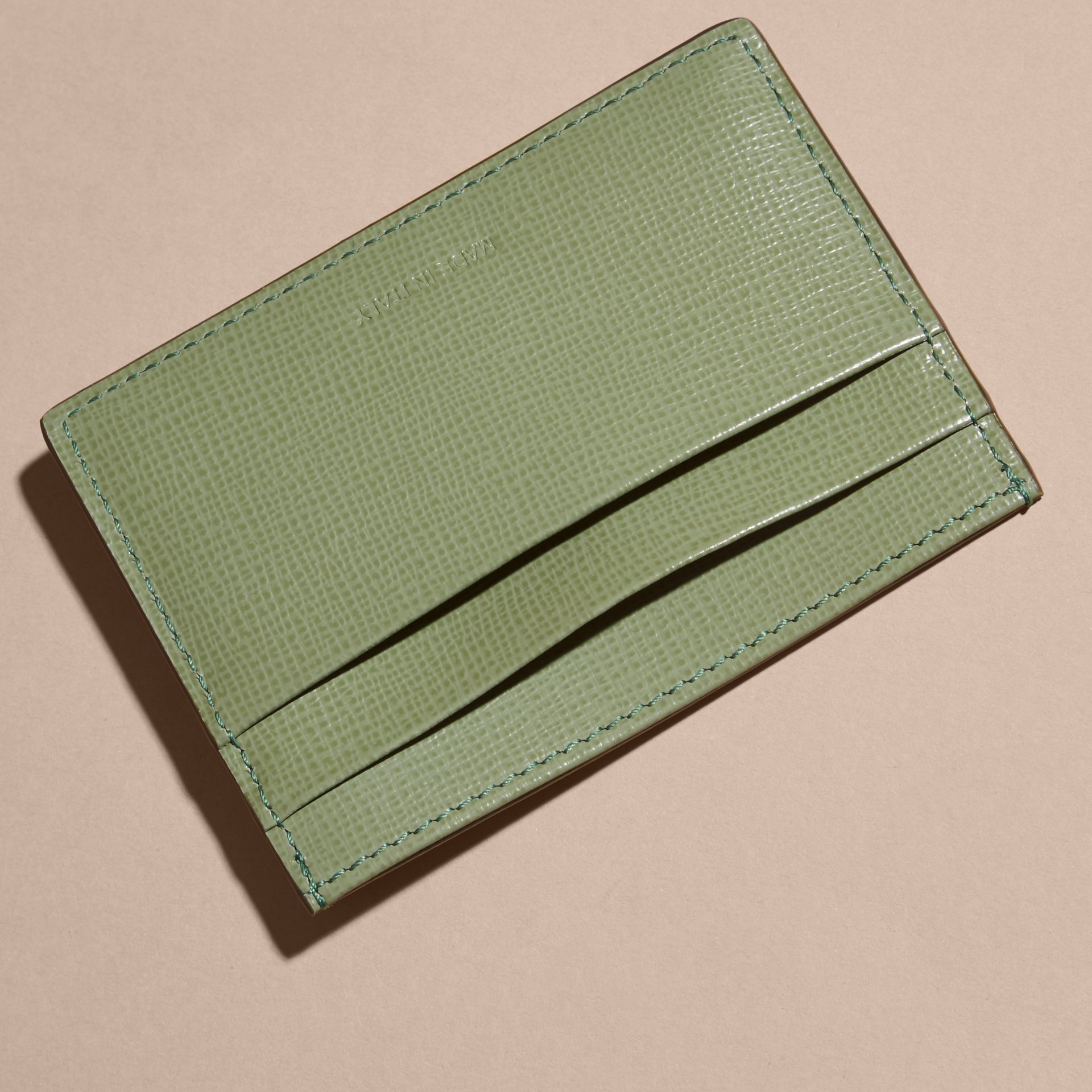 London Leather Card Case in Antique Green - gallery image 4