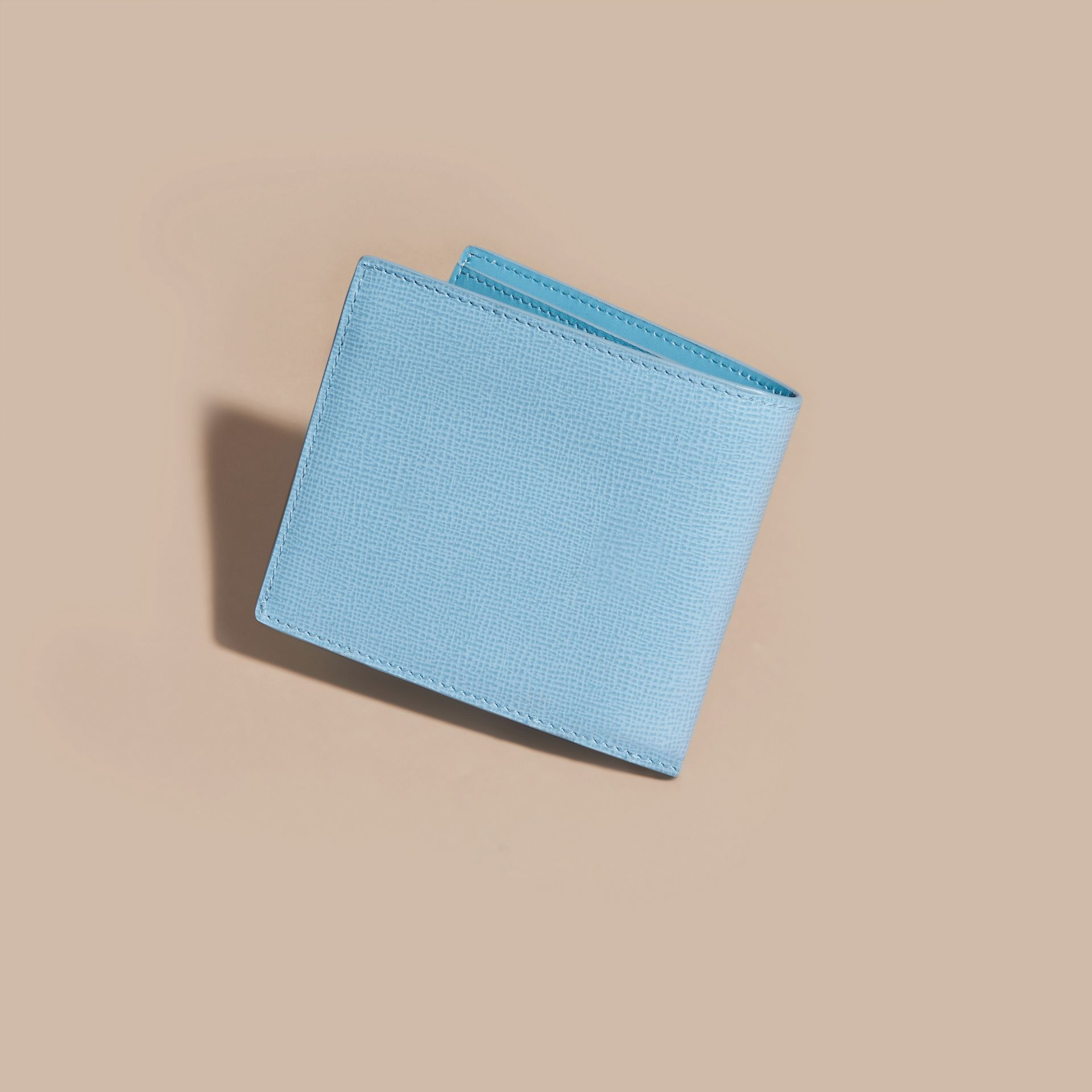 London Leather Folding Wallet Powder Blue - gallery image 4