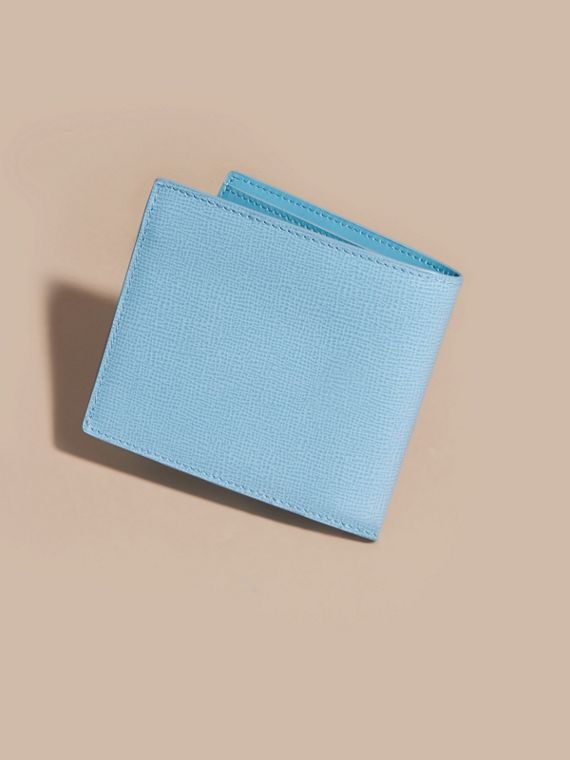 London Leather Folding Wallet Powder Blue - cell image 3