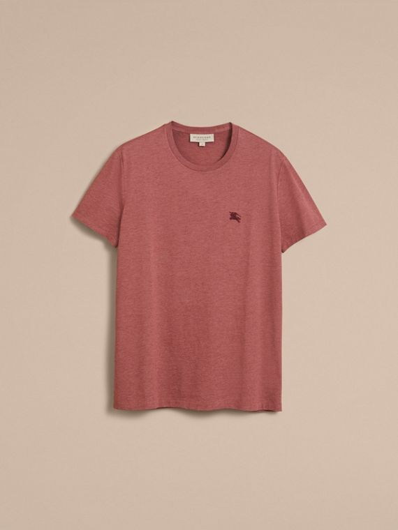 Cotton Jersey T-shirt in Russet Melange - Men | Burberry - cell image 3