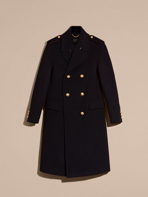 Navy Technical Wool Military Overcoat - cell image 3