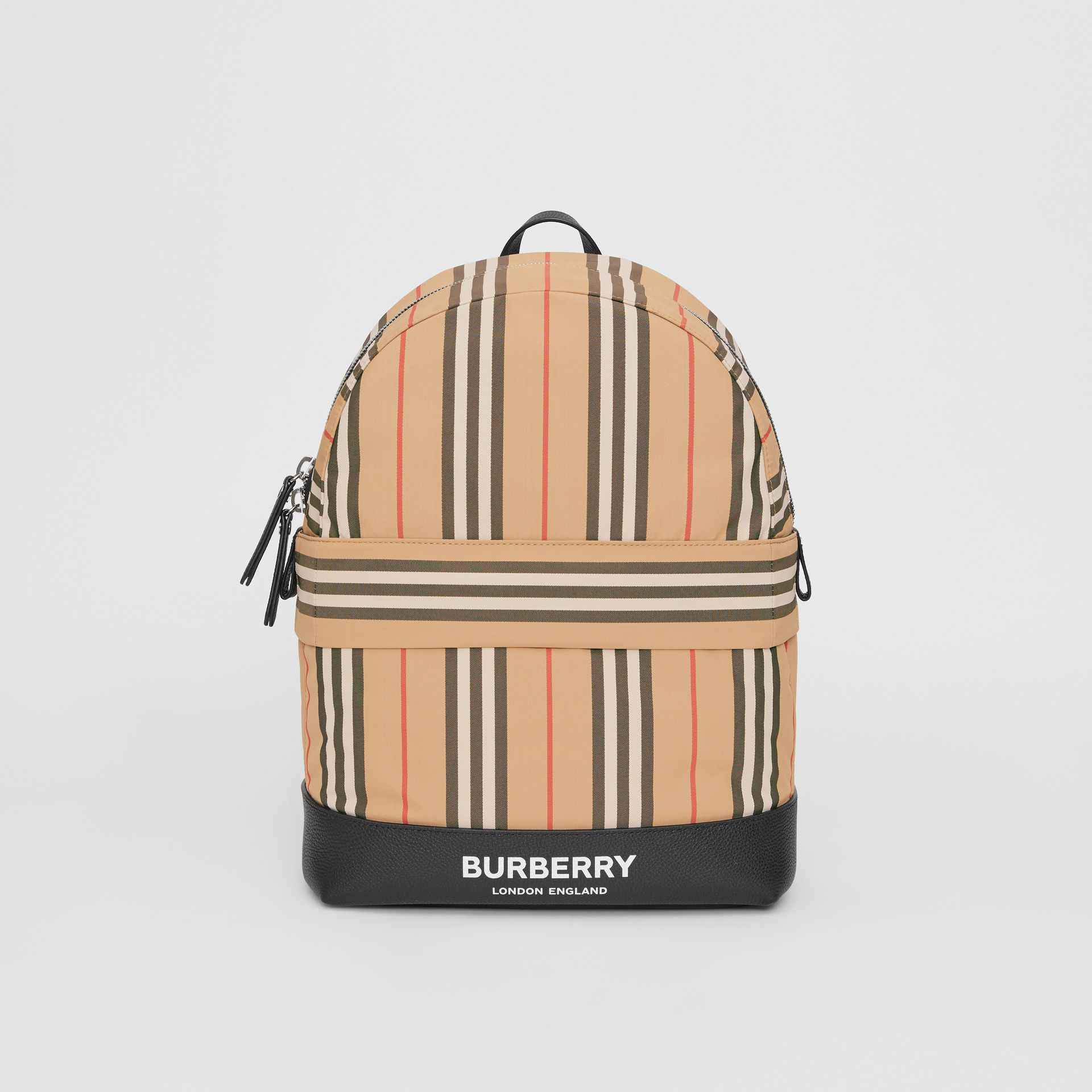 Icon Stripe Nylon Backpack in Archive Beige - Children | Burberry Canada - gallery image 0