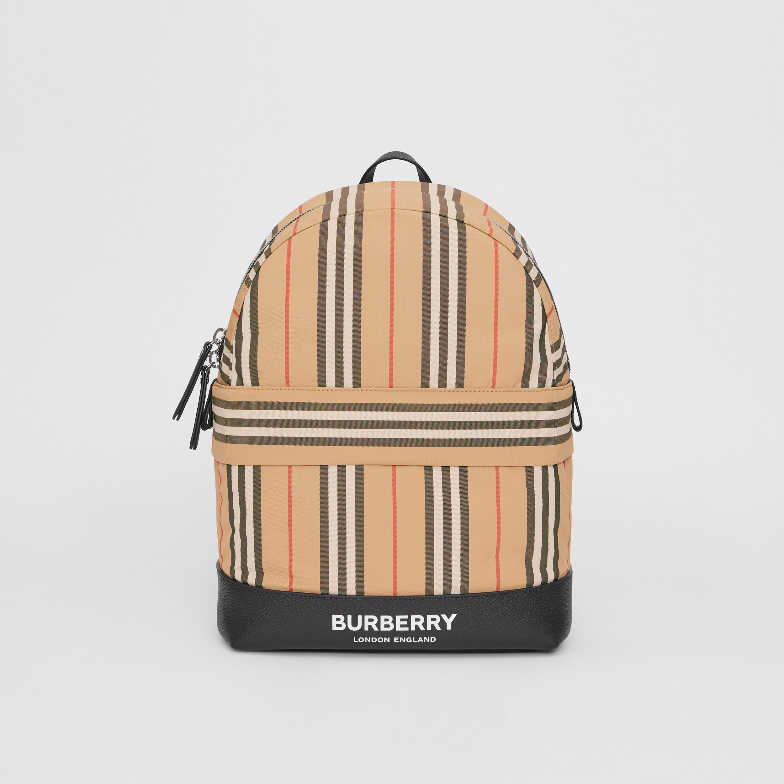 Icon Stripe Nylon Backpack in Archive Beige | Burberry United States - 1