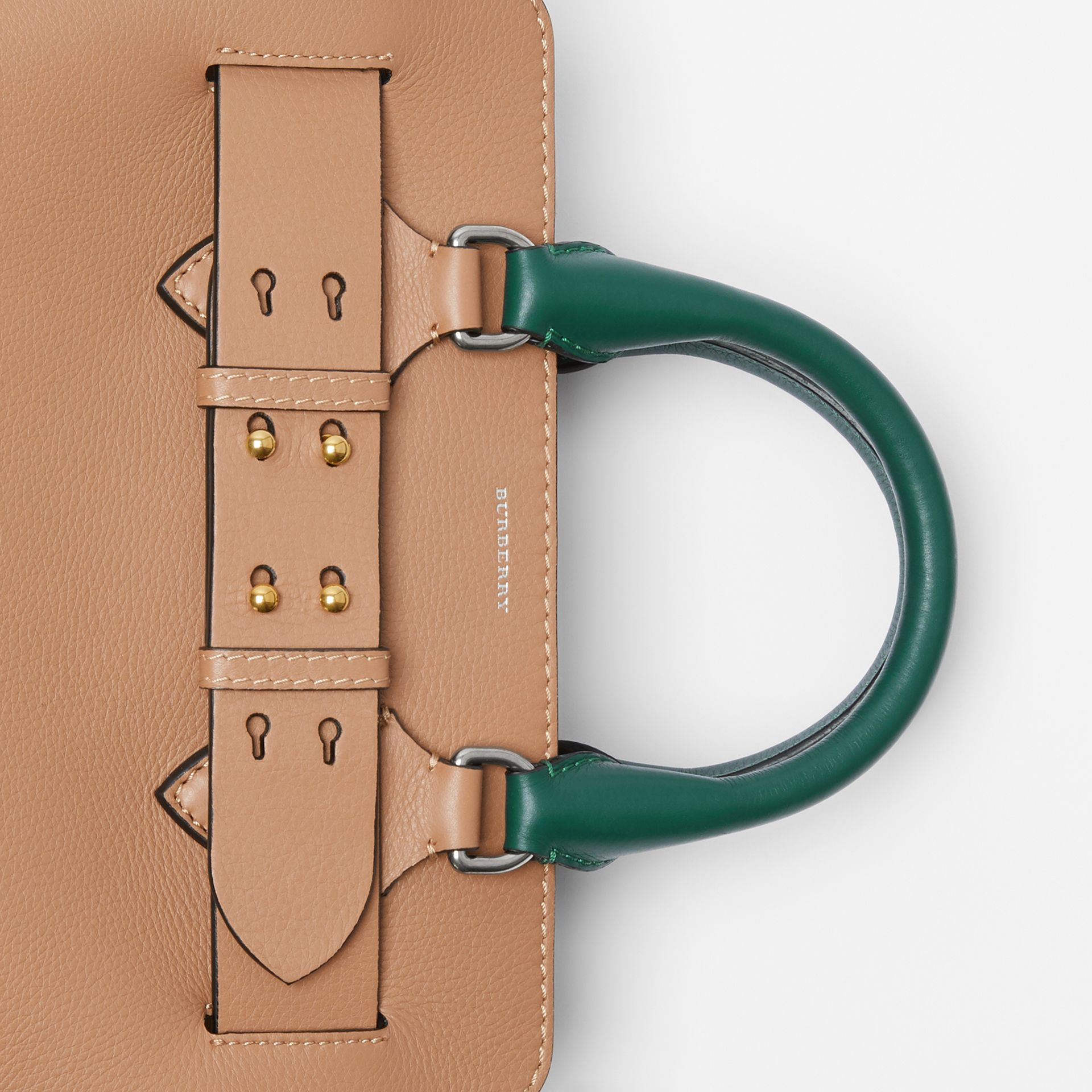 The Small Tri-tone Leather Belt Bag in Light Camel - Women | Burberry United Kingdom - gallery image 1