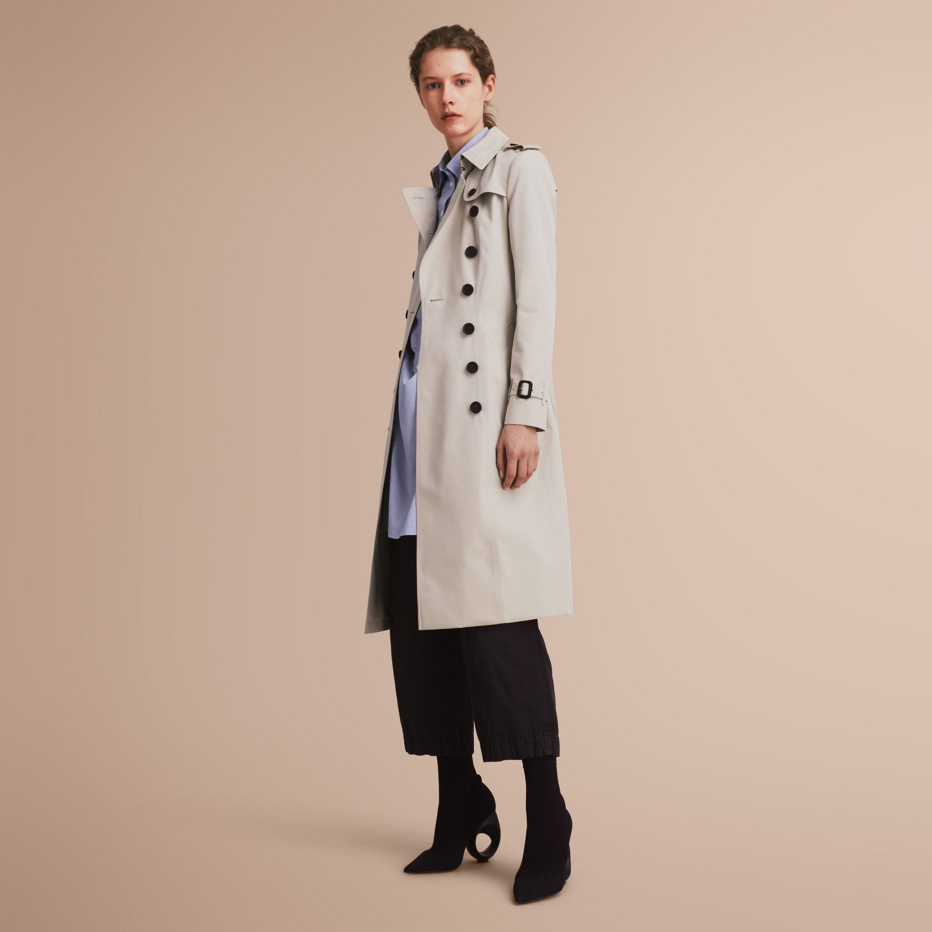 The Chelsea – Extra-long Heritage Trench Coat in Stone - gallery image 7