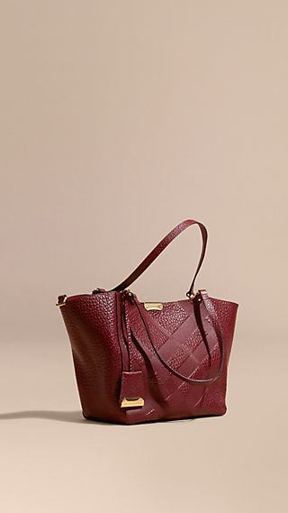 Petit Sac The Canter en cuir avec motif check estampé