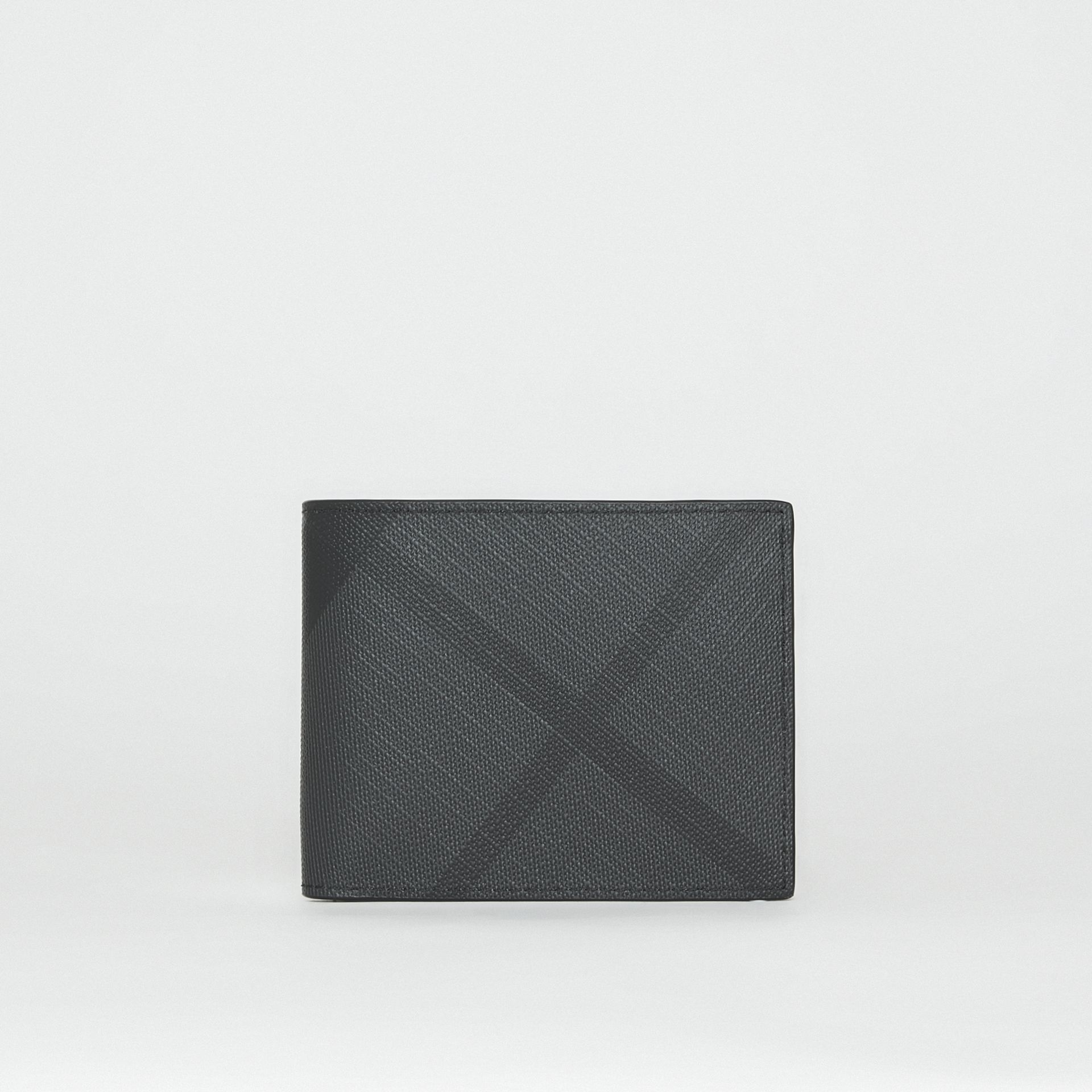 London Check Bifold Wallet in Charcoal/black - Men | Burberry United Kingdom - gallery image 2