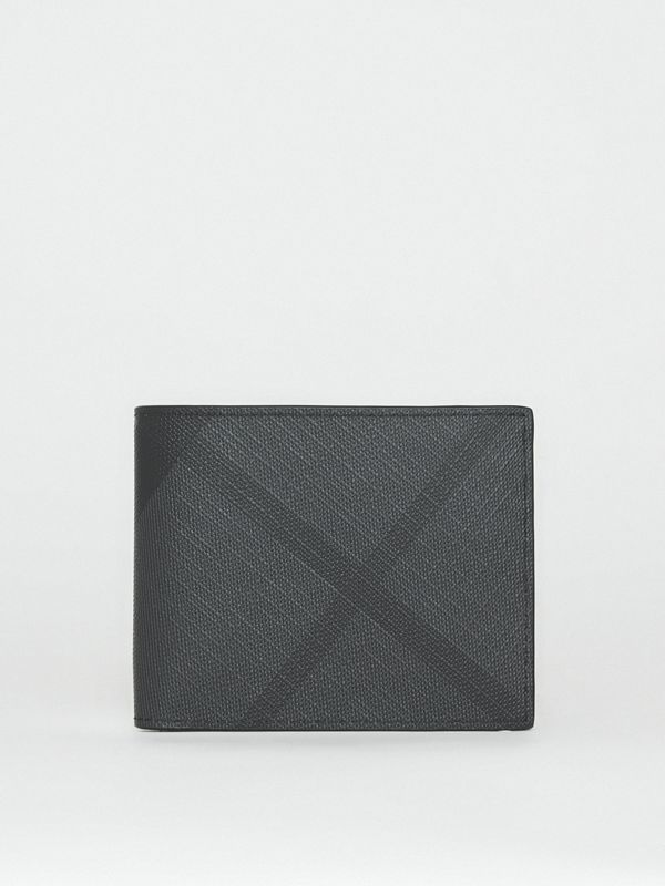 London Check Bifold Wallet in Charcoal/black - Men | Burberry Australia - cell image 2