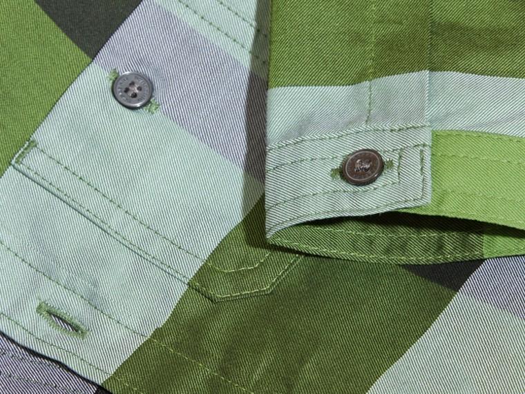 Verde felce brillante Camicia in cotone con motivo check Verde Felce Brillante - cell image 1