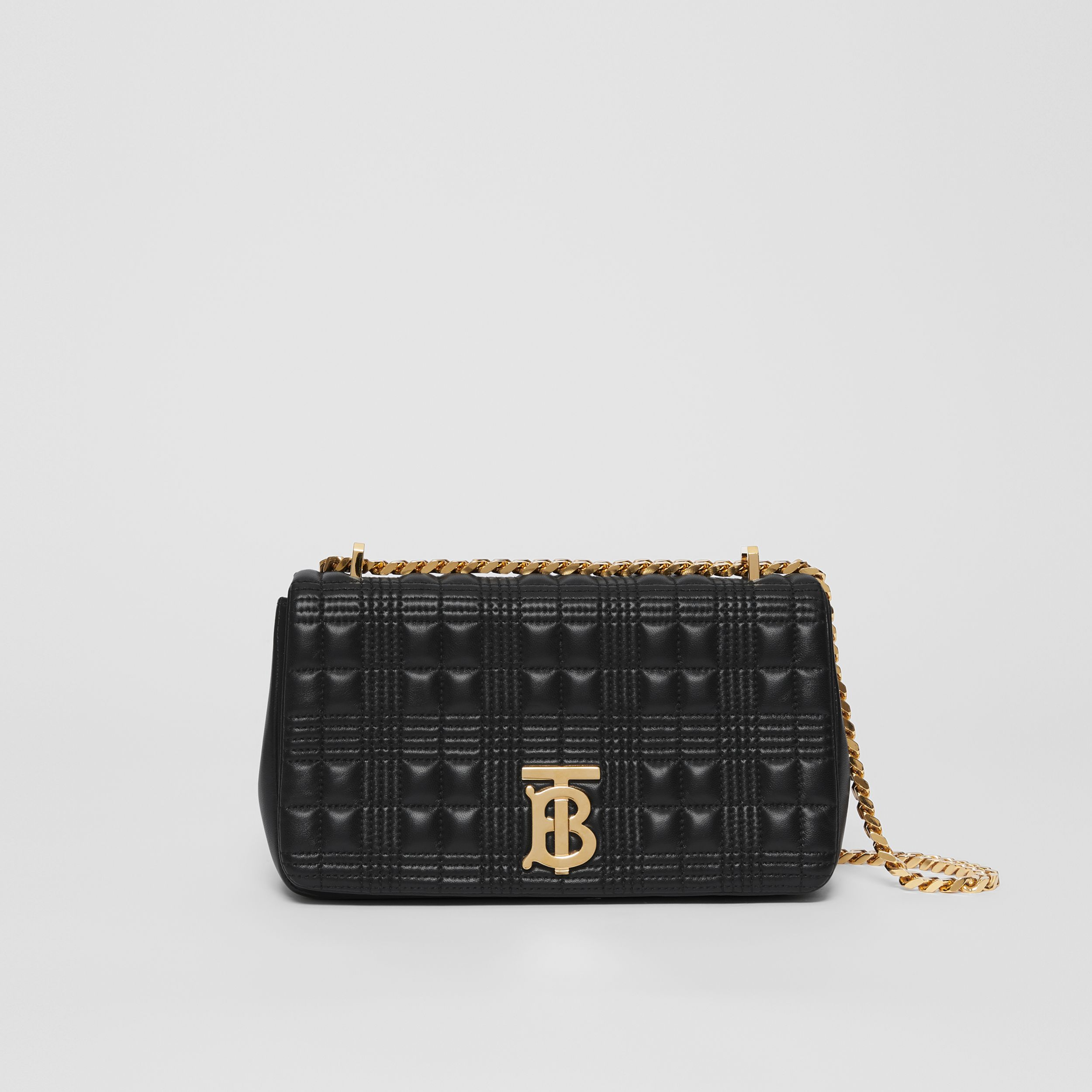 Small Quilted Lambskin Lola Bag in Black/light Gold - Women | Burberry - 1