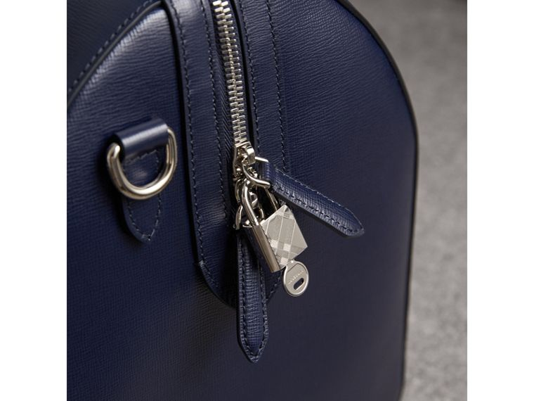 London Leather Holdall in Dark Navy - Men | Burberry - cell image 1