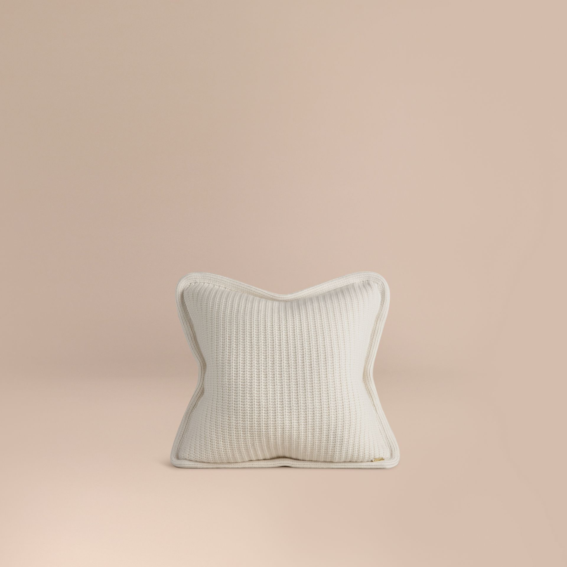 Natural white Knitted Cashmere Cushion Cover Natural White - gallery image 1